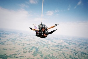 Jumping out of a plane…