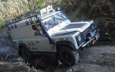 Land Rovers raising money